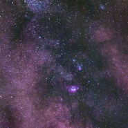 Lagoon and Trifid Nebulae (Canon EOS 70D) 01