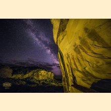 10 - Southern Utah Pictographs & Milky Way (Print) 02