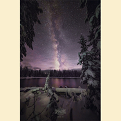12 - Snowy Crystal Lake & Milky Way (Print) 01