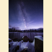 05 - Snowy Crystal Lake & Milky Way (Print) 02