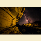 08 - Southern Utah Pictographs & Milky Way (Print) 01