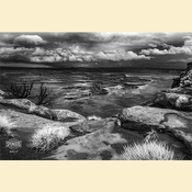 10 - Green River Overlook in IR (Black & White - Print) 01