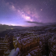 Bryce Canyon and Snowy Milky Way - Canon EOS 6D Mark II Astro Full Spectrum