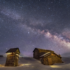 01 Outhouse, Cabin and Milky Way (Winter) - Full Spectrum