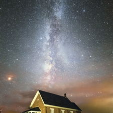 03 Old Church and Milky Way - Full Spectrum