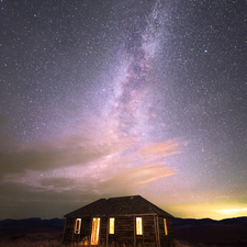 03 Old Cabin and Milky Way - Full Spectrum