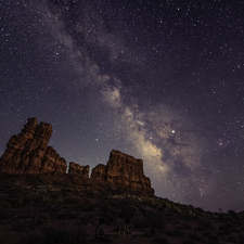 Milky Way over Arches 05
