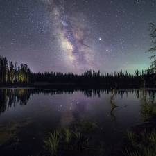 High Mountain Lake and Milky Way - Full Spectrum