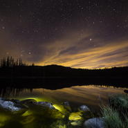 2 - Crystal Lake and Sunset - Full Spectrum Astro-Modified Canon EOS 6D