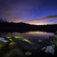 4 - Crystal Lake and Sunset - Full Spectrum Astro-Modified Canon EOS 6D