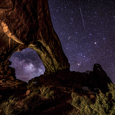 8 - North Window, Milkyway & Meteor - Full Spectrum Astro-Modified Canon EOS 6D