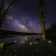 18 - Lost Creek Reservoir and Milky Way, Utah - Full Spectrum Astro-Modified Canon EOS 6D.