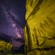 14 - Southern Utah Pictographs and Milky Way, Utah - Full Spectrum Astro-Modified Canon EOS 5DS.