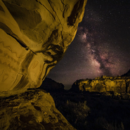 15 - Southern Utah Pictographs and Milky Way II, Utah - Full Spectrum Astro-Modified Canon EOS 5DS.