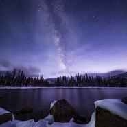Snowy Crystal Lake & Milky Way 02 - Full Spectrum Canon EOS 5DS