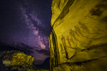 09 - Southern Utah Pictographs & Milky Way (Print) 01