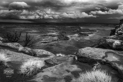 04 - Green River Overlook in IR (Black & White - Print) 01